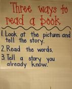 """How to read a book"" Anchor chart"