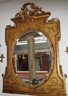 Beautiful mirror #NapoleonIII in #giltwood. 19th century. For sale on #Proantic by Au Sourire d' Ariane.