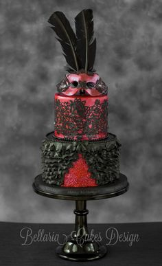 Burlesque Wedding Cake  www.tablescapesbydesign.com https://www.facebook.com/pages/Tablescapes-By-Design/129811416695