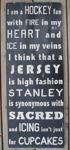 Ich bin ein Hockey Fan UBahn Stil Wortkunst von wordwillow auf Etsy