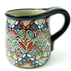 Javier Servin Ceramic Blue Coffee Mug Mexico Signed Raise... https://www.amazon.com/dp/B01MTMAQH2/ref=cm_sw_r_pi_dp_x_eU8jyb6WJT1XE