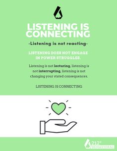 """Let's talk about listening. So many parents get listening confused with consenting to bad behavior.  Listening to why your child chose not to follow directions or chose to hit or yell does not mean you agree with their behavior.  It does not mean you are going to neglect their consequences. It simply means you took the time to connect with them in their big feels.  The root word for discipline is to disciple or to """"teach"""" and our greatest teachers always took the time to make great connections."""
