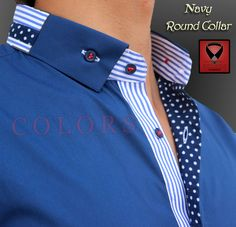 Round Collar – Men's style, accessories, mens fashion trends 2020 Camisa Polo, Camisa Slim, Mens Shalwar Kameez, Kurta Men, Collar Designs, Shirt Designs, Formal Shirts, Casual Shirts, Gents Shirts