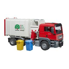 Scania R Series Tipper Truck Red Cap Green Dump Bed By