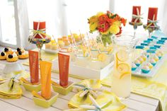 Showcase your theme throughout your party! Mary Kay® sun care products are a great fit for summertime party. You can feature lemonade, bright treats and seashells to add a special summer touch!