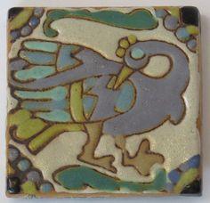 Batchelder Multi-Color Turkey Tile