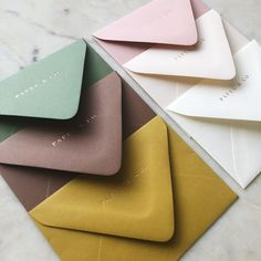 love these envelope colors