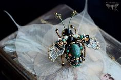 Unique jewelry Beetle pin Insect jewelry by PurePearlBoutique