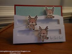 An SAS4Kids holiday card made for a Jingle Belles Challenge, featuring Mama Elephant Reindeer Games stamp set