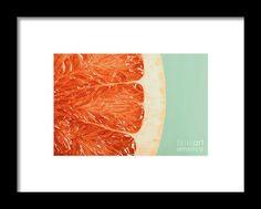 Blood Orange Slice Macro Details Framed Print
