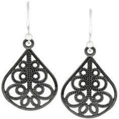 Pendientes Ornate Teardrop Hematita #earrings #women #covetme