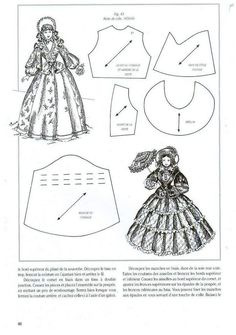 doll costume {re-sizing necessary} Barbie Sewing Patterns, Doll Dress Patterns, Costume Patterns, Sewing Dolls, Clothing Patterns, Vintage Patterns, Vintage Sewing, Minis, Barbie Et Ken