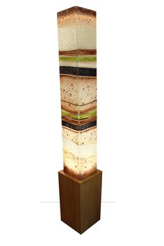 Visit the post for more. Stained Glass Lamps, Fused Glass Art, Glass Lights, Glass Art Design, Totems, Outdoor Art, Led Lamp, Display Ideas, Metals