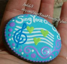 Painted stones,  painted rocks, inspirational, inpiration rock, meditation stone, musical gift, music teacher gift,  treble clef art, music art, singer gift, hand painted,  etsy,
