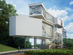 Architecture For Future — Urban office architecture designs geometric aviator's villa
