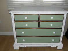 Our little nest on the lake: hand painted diy chest with wrapping paper drawers