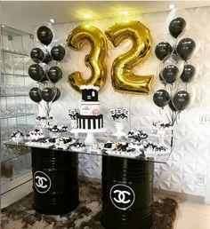 Fiesta 30 Gold Birthday, Unicorn Birthday Parties, Unicorn Party, Birthday Party Themes, Great Gatsby Themed Party, Birthday Decorations For Men, Wonder Woman Birthday, Holidays And Events, Ideas Sorpresa