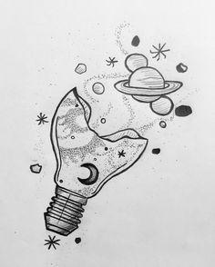 Trendy Ideas For Disney Art Sketches Pencil Tattoo. Space Drawings, Cool Art Drawings, Pencil Art Drawings, Drawing Sketches, Tattoo Sketches, Drawing Drawing, Drawing With Pencil, Doodle Drawings, Beautiful Drawings