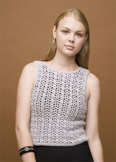 Crochet top BEGINNER level instructions Women's Shell