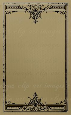 Frame Clip ArtGrungy Vintage Art Nouveau Frame by ImagesClipArt, $1.50