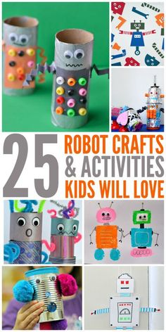 Are your kids looking for some fun activities this summer? We have 25 awesome Robot Crafts and Activities that they will love! On the next rainy day – or really hot day – pull these out and let your kids get creative with all these fun robots! The best part, most of them can be … #artsandcraftsforpre-schoolers,