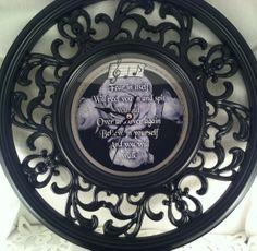 12 inch Black Filigree Decorative Wall Clock by QuietMindDesigns, $25.00