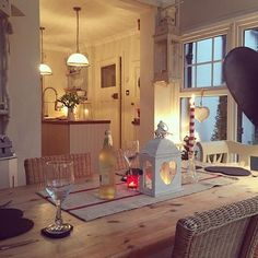 An alcohol free New Year's Day dinner House Design, Interior, Cottage Style, Home, Country Cottage, Cottage Style Dining Room, House Interior, Cottage Interiors, Home Styles