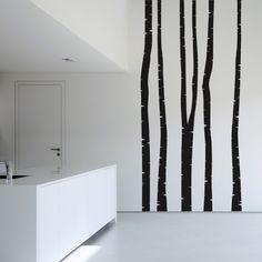 #Wandtattoo #Baum - 5 Wandtattoo Birkenstämme - Wandsticker Birke Set in 20 Farben #skandinavisch #schlicht #dekorativ #stilvoll #wohnen #schweden #wohnstil #wohnideen #hell #freundlich #natürlich #Einrichtungsstil