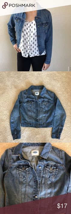 Jean Jacket Jean jacket, worn a couple of times and in good condition!     Feel free to ask questions or make an offer! No Trades! Old Navy Jackets & Coats Jean Jackets
