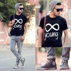 Positeeve Young, Hoodboyz Konrad Corduroy Back Men Bag Beige, Vintage Converse #fashion #mensfashion #menswear #mensstyle #style #outfit #ootd
