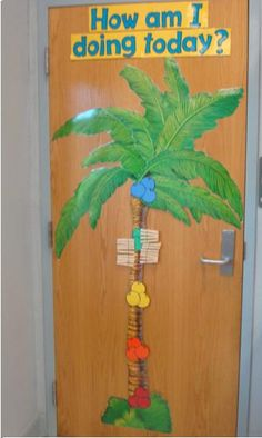 Classroom Palm Tree used for students to monitor daily behavior.