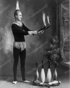 Flame Juggler Vintage 8x10 Reprint Of Old Photo Flame Juggler Vintage 8x10 Reprint Of Old Photo This is an excellent reproduction of an old photo. Reproduced photo is in mint condition. This photo wil