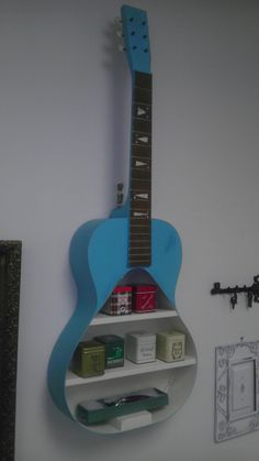 Repurposed Guitar Wall Shelf by RockingTheChair on Etsy, $220.00