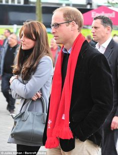 Passionate William and Catherine Duchess of Cambridge watch Wales in desperately tight match with Australia