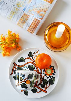 orange 3 Marimekko, Plates, Orange, Tableware, Kitchen, Design, Licence Plates, Dishes, Dinnerware