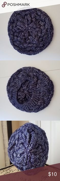 Charming Charlie Knit Beanie Beautiful purple and silver (gives the illusion of frosted purple) knit beanie 67% polyester, 33% acrylic In excellent used condition Charming Charlie Accessories Hats