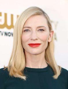Cate Blanchett long straight cut hairstyle