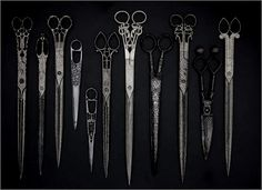 Quality workmanship, in these antique scissors. We just don't see this kind of workmanship any more.
