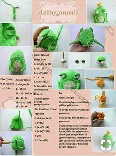 Amigurumi masal kahramanı kurbağa prens tarifi anlatımlı