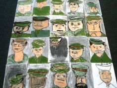ANZAC Day – 25 April – is probably Australia's most important national occasion. It marks the anniversary of the first major military action fought by Australian and New Zealand forces during… Remembrance Day Activities, Remembrance Day Art, Anzac Soldiers, Art Classroom, Classroom Organisation, Primary Classroom, Primary School, Pre School, Picture Story Books