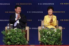 中国、日本を批判して韓国に接近   China Talks Down Tokyo in Bid to Woo Seoul President Xi Jinping Highlights Japan's Wartime 'Barbarity'