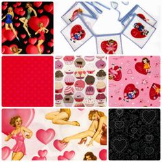Fabric Friday - Valentine's Day... Love it with Alexander Henry and Lake House Pam Kitty Love
