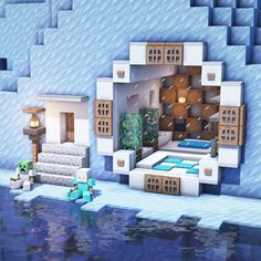 Photo Minecraft, Cute Minecraft Houses, Minecraft Mansion, Amazing Minecraft, Minecraft House Designs, Minecraft Crafts, Minecraft Buildings, Minecraft Building Guide, Minecraft Plans