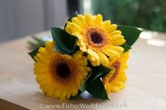 Dwarf sunflower varieties are great to use in the creation of smaller posies for little members of the bridal party to carry