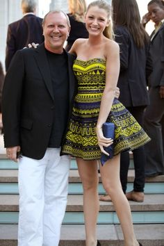 michael and blake in an adorable dress