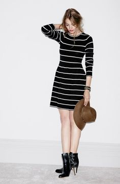 Striped Sweater Dress @Nordstrom #Nordstrom