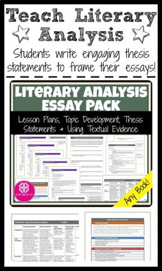 Literary Analysis Thesis Statement Examples