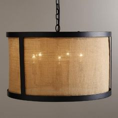 One of my favorite discoveries at WorldMarket.com: Burlap Drum Chandelier