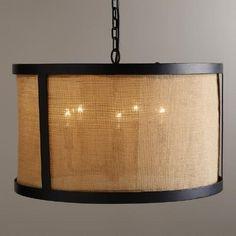 One of my favorite discoveries at WorldMarket.com: Burlap Drum Chandelier