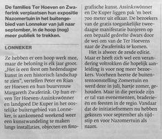 #LONNEKER 17/18 september kunstwandeling expositie 6e editie op Erve Ter Hoeven - Assinkswonner